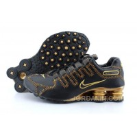 Men's Nike Shox NZ Shoes Black/Yellow/Gold Free Shipping
