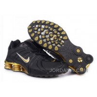 Men's Nike Shox OZ Shoes Black/Gold Free Shipping