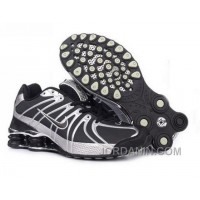 Men's Nike Shox OZ Shoes Black/Grey/Silver Free Shipping