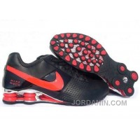 Men's Nike Shox OZ Shoes Black/Red/Silver Super Deals