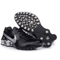 Men's Nike Shox OZ Shoes Black/Silver Authentic
