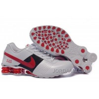 Men's Nike Shox OZ Shoes White/Black/Red/Silver Cheap To Buy