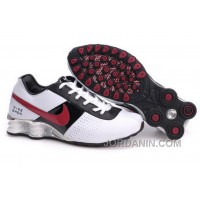 Men's Nike Shox OZ Shoes White/Black/Silver/Red Online