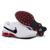 Men's Nike Shox OZ Shoes White/Silver/Black/Red Free Shipping
