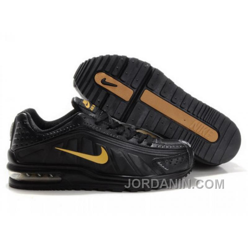 newest 0c126 c5c14 USD  85.43  247.75. Men s Nike Shox R4   Air Max LTD Shoes Black Gold  Discount ...