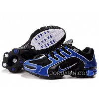 Men's Nike Shox R5 Shoes Black/Blue Discount