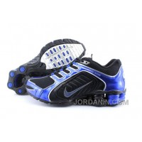 Men's Nike Shox R5 Shoes Black/Dark Blue Super Deals