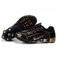 Men's Nike Shox R5 Shoes Black/Gold Authentic