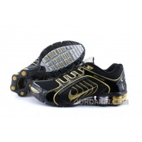 Men's Nike Shox R5 Shoes Black/Golden/Grey Cheap To Buy