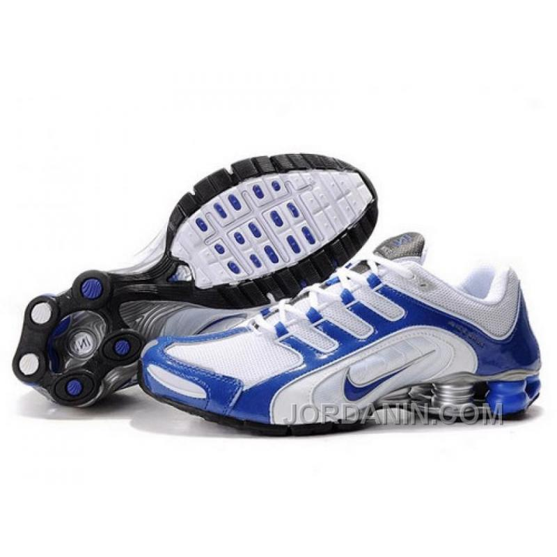 detailed look 70e03 6ce0f Men's Nike Shox R5 Shoes White/Blue/Grey For Sale