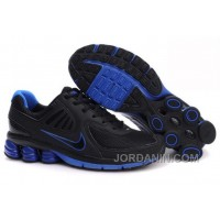 Men's Nike Shox R6 Shoes Black/Dark Blue Online