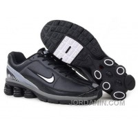 Men's Nike Shox R6 Shoes Black/Grey/White New Release