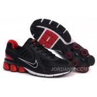 Men's Nike Shox R6 Shoes Black/Red/White Free Shipping