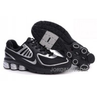 Men's Nike Shox R6 Shoes Black/Silver Authentic