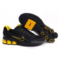 Men's Nike Shox R6 Shoes Black/Yellow For Sale