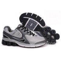Men's Nike Shox R6 Shoes Dark Grey/Grey/Black Discount
