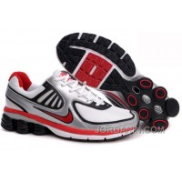 Men's Nike Shox R6 Shoes Silver/White/Black/Red Top Deals