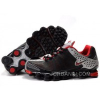 Men's Nike Shox TL Shoes Black/Red/Silver Cheap To Buy