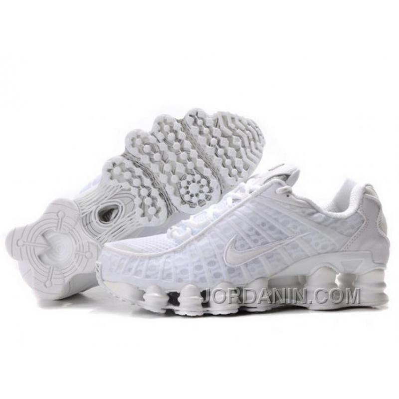 promo code df8f6 395f6 Women's Nike Shox TL Shoes All White Top Deals