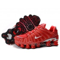 Women's Nike Shox TL Shoes Gym Red/Silver Online