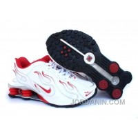 Kid's Nike Shox Torch Shoes White/Red/Grey Discount