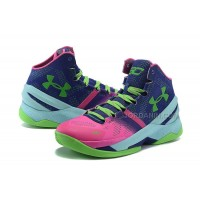 Cheap NBA 2015 Basketball Shoes Stephen Curry 2s Shoes Green Rose Mens
