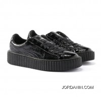 PUMA BY RIHANNA CREEPER CRACKED LEATHER Puma Black-Puma Black-Puma Black New Release