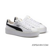 PUMA BY RIHANNA CREEPER WHITE LEATHER Puma White-Puma Black-Puma White New Release