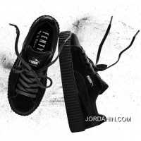 Puma By Rihanna Suede Creepers Black Mens Womens Shoes Outlet