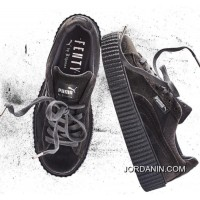 Puma By Rihanna Suede Creepers Grey Mens Womens Shoes Best