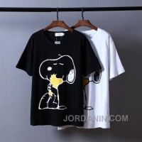 Snoopy Tshirt Black White Unisex For Sale