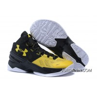 Under Armour Curry 2 Kid Shoe Black Yellow Sneaker Discount