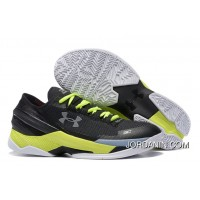 Under Armour Curry 2 Low Custom Black White Yellow Sneaker For Sale