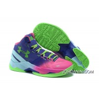 Under Armour GS Curry 2 Women Pink Blue Green Sneaker New Release