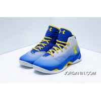 Under Armour Curry 2.5 Men Basketball Shoes Blue Gray Yellow Authentic