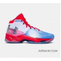 Buy Under Armour Curry 2.5 Red Blue White Mens Basketball Shoes Top Deals