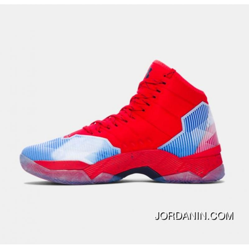 bd9357f4382e ... Buy Under Armour Curry 2.5 Red Blue White Mens Basketball Shoes Top  Deals