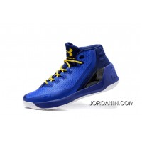 2016 Under Armour Curry Three Royal Blue Mens Shoes New Style