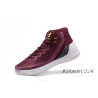 Buy Under Armour Curry Three Dark Red New Mens Shoes Copuon Code