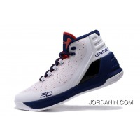 Under Armour Curry Three White Navy Blue Red Cheap New Mens Shoes Best