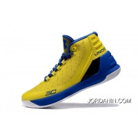 Under Armour Curry Three Yellow Blue Cheap Mens Shoes New Style