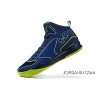 Under Armour Curry Three Royal Blue Green Cheap New Mens Shoes Discount