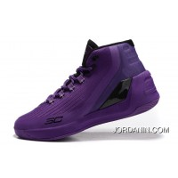 Cheap Under Armour Curry 3 Purple Black New Mens Shoes Authentic