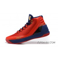 Cheap Under Armour Curry Three Red Blue New Mens Shoes Top Deals