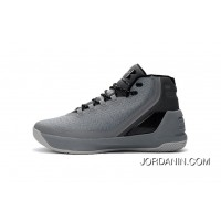 Discount Under Armour Curry Three Grey New Mens Shoes Online