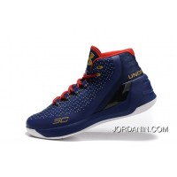 Good Under Armour Curry 3 Royal Blue Gold Red New Mens Shoes Free Shipping