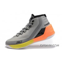 New Under Armour Curry 3 Grey Yellow Orange New Mens Shoes Cheap To Buy