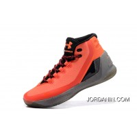 New Under Armour Curry Three Orange Grey New Mens Shoes Authentic
