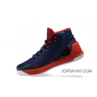 Outlet Under Armour Curry Three Red Dark Blue Sale New Mens Shoes Online
