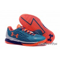 Under Armour Curry One Low Women Blue Silver Orange Sneaker New Style
